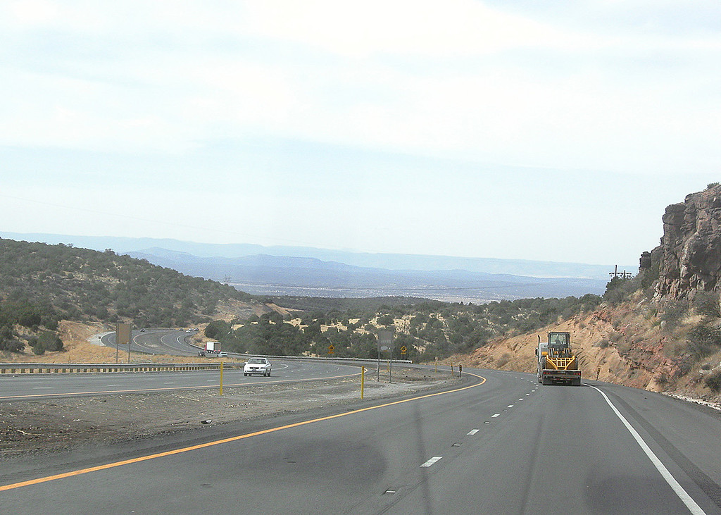 The grade going out of Flagstaff