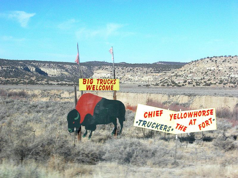 Buffalo sign along highway