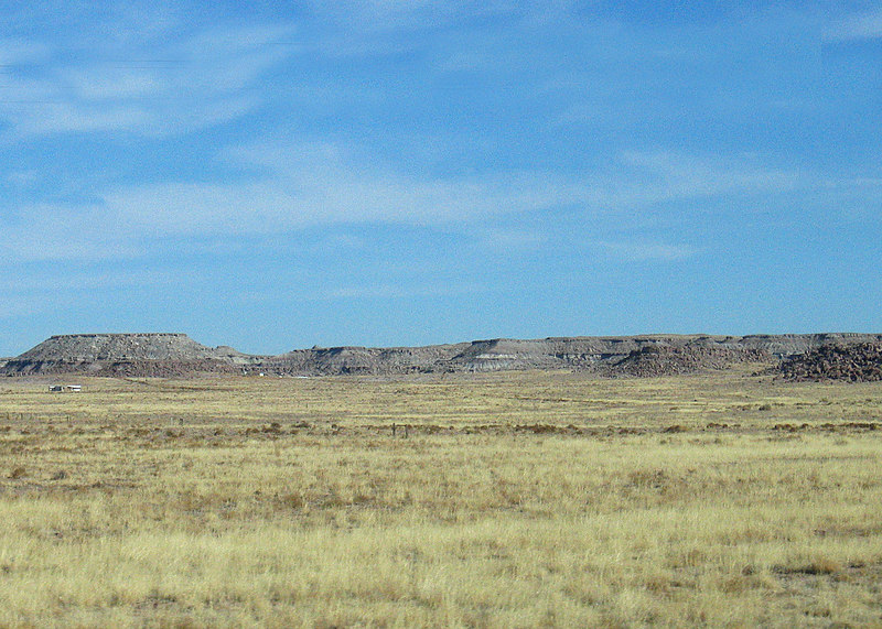 Fields and mesas in distance around Flagstaff