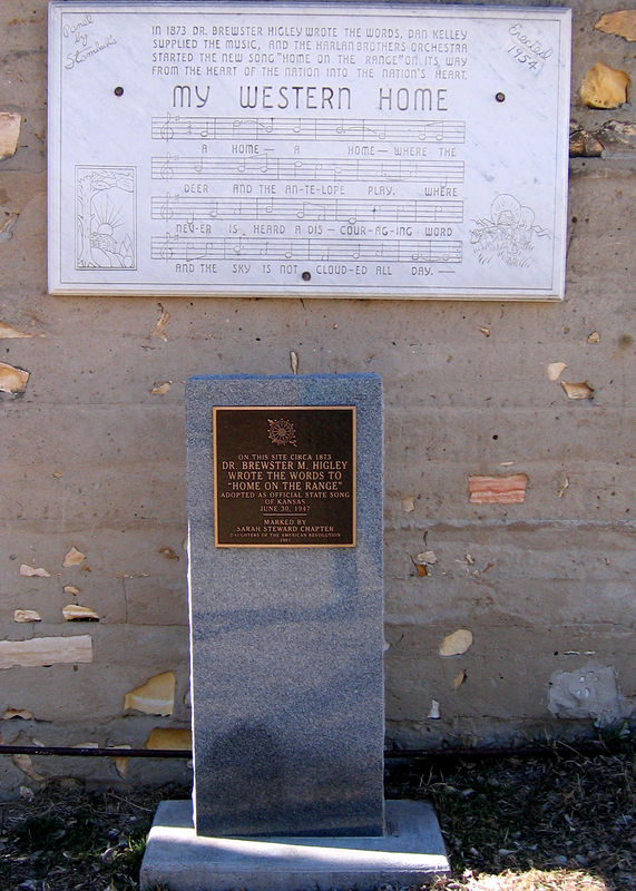 Plaque with part of the song engraved on it.