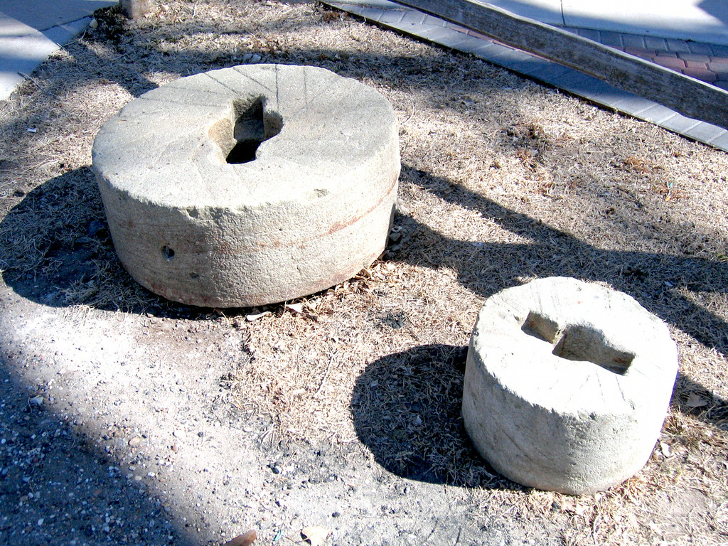 Stones for grinding.