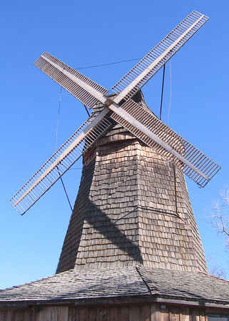 Smith Center, KS,  Old Dutch Windmill - 2/22/06 -