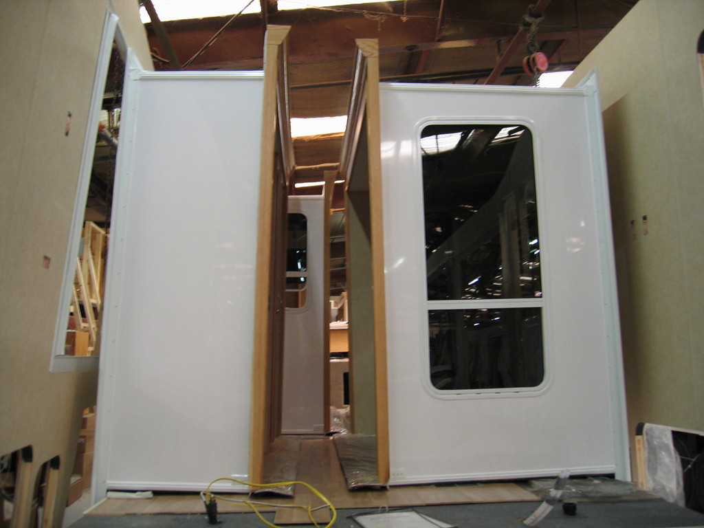 Slide outs ready to be assembled