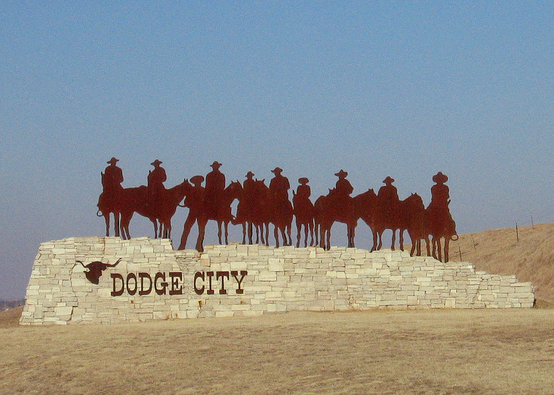 Dodge City sign along route 283