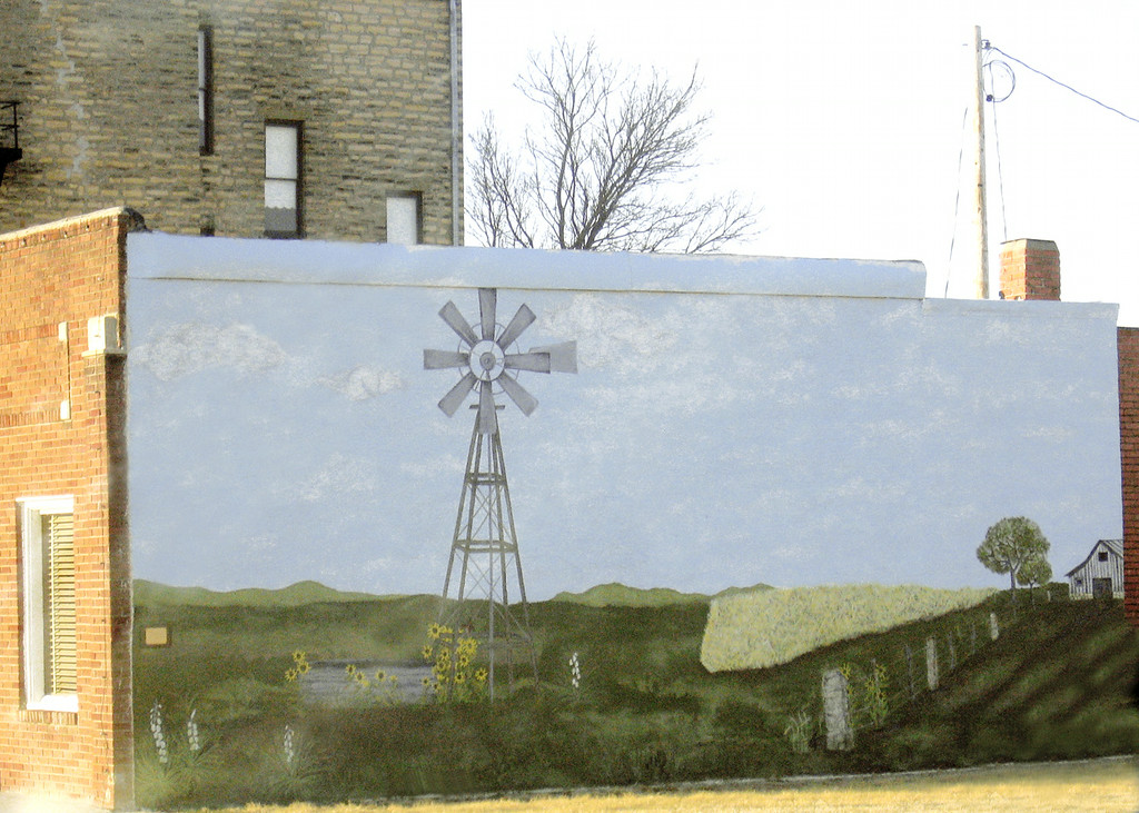 Painted building in Ness City, KS