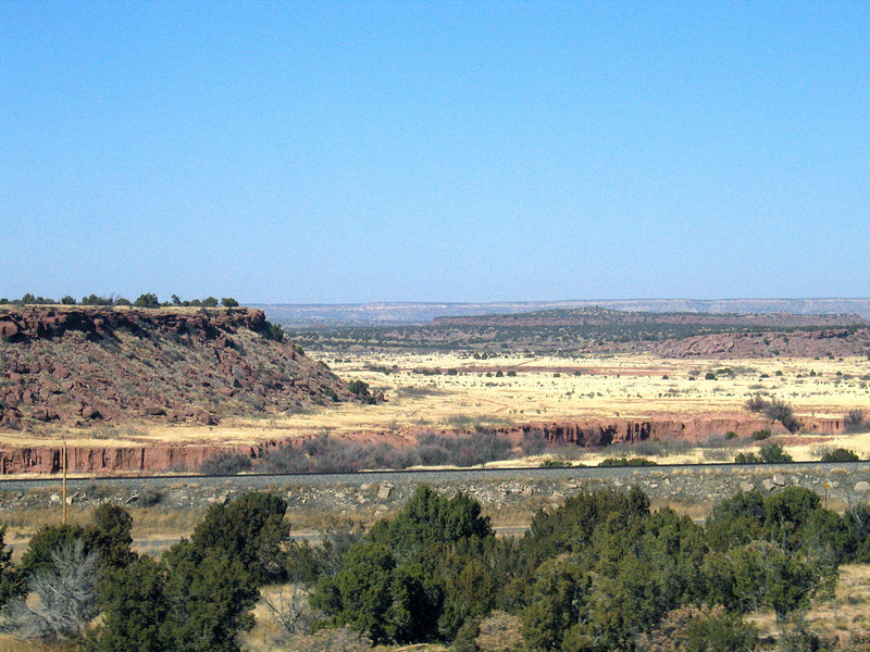 Mesa outside Palomas, NM along Interstate 40