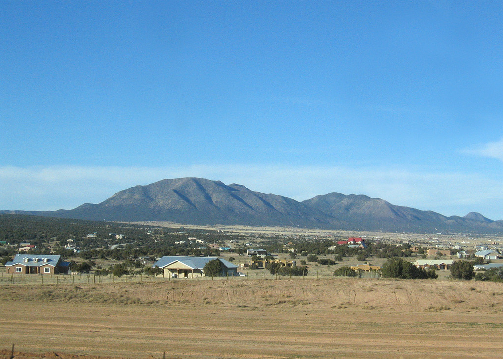 Getting close to Albuquerque, NM along Interstate 40