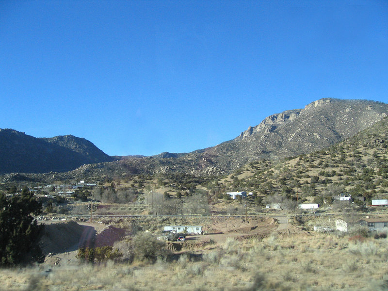 Passing through Sandia Mountains just outside Albuquerque, NM along Interstate 40