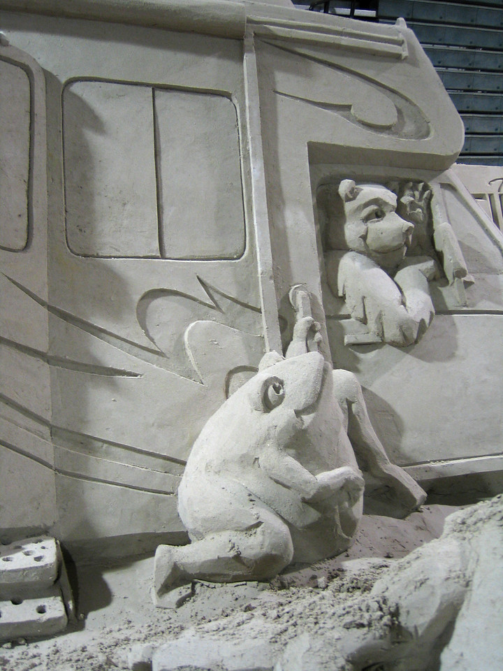 Tampa, Florida RV Show - Closeup of sand sculpture.