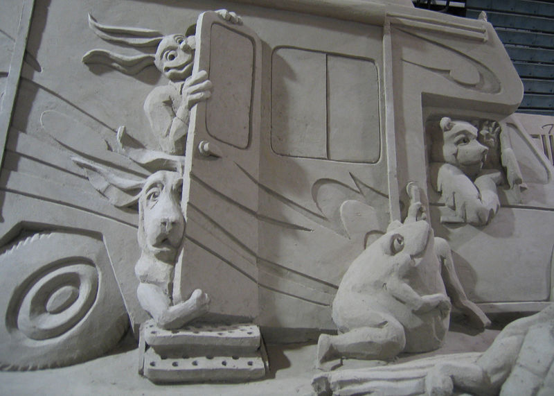 Tampa, Florida RV Show - Closeup of the sand sculptures.