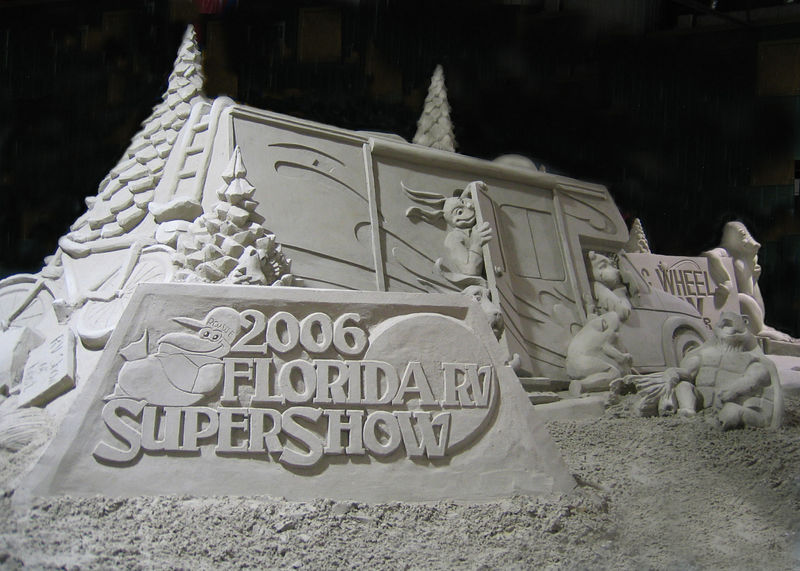 Tampa, Florida RV Show - This is the completed sand sculpture, isn't it great!