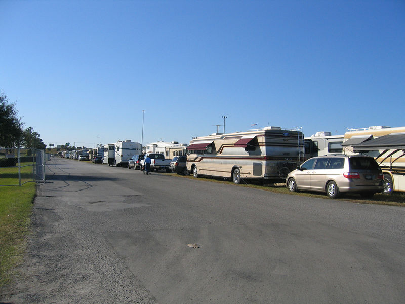 Tampa, Florida RV Show - Fairgrounds where hundreds of RVs spent several days.
