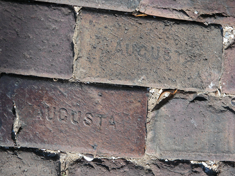 Brick used in the street.