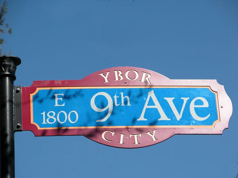 Ybor City sign.