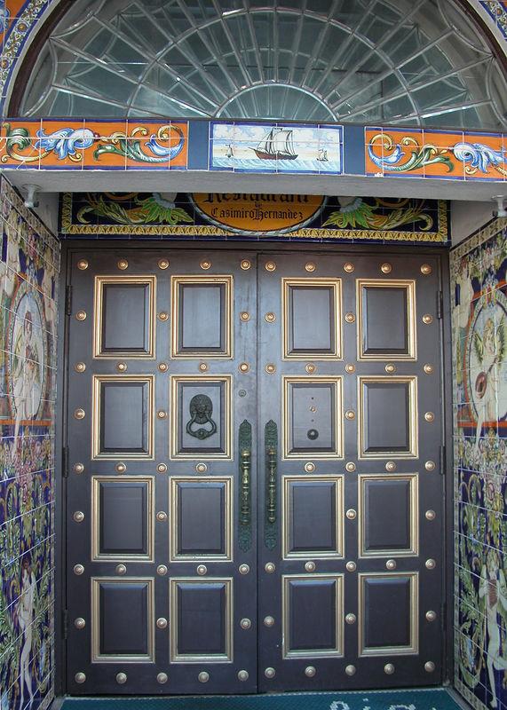 The door at the Columbia Restaurant.