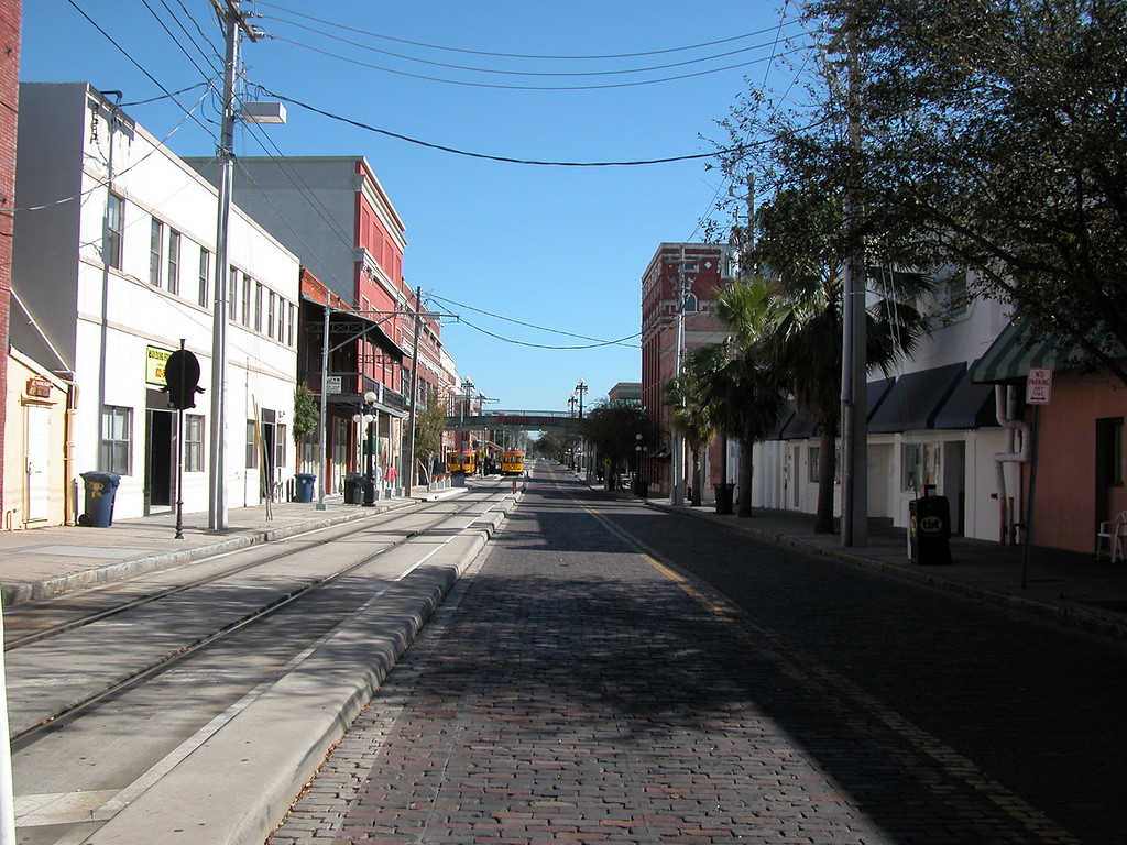 Just one of the streets in Ybor.
