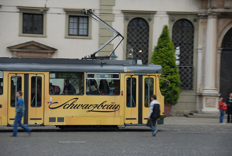 "Streetcar in Augsburg. <a href=""http://en.wikipedia.org/wiki/Augsburg"" target=""_new"">Read about the city of Augsburg on Wikipedia </a>"