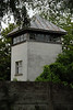 A guard tower at the Dachau concentration camp.