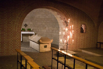 The crypt below the main altar.  I forget who rests here.