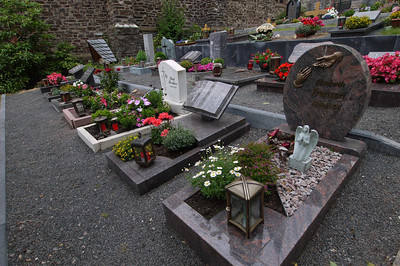 """The gravesites at the local church are kept up. You only """"rest"""" here for 20-30 years or so before the more recently deceased are moved in. That way the cemetary is always filled those in recent memory."""