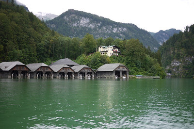 Boathouses for the tour boats.
