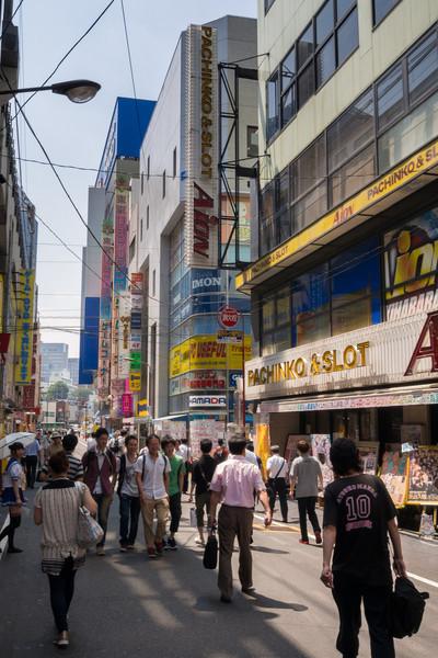 Smaller side street in Akihabara.