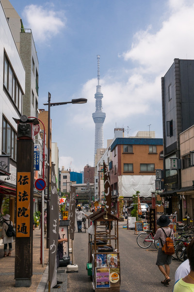 Tokyo Skytree in the distance.