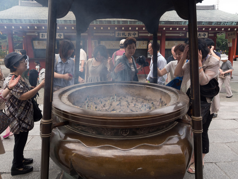 Incense cauldron. The smoke is rubbed against whichever body part you feel you need help with.