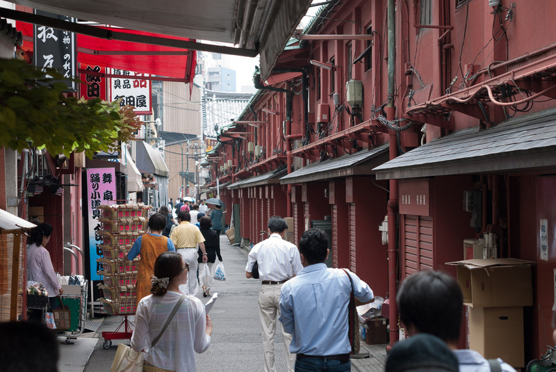 Alley behind the Nakamise shopping arcade.