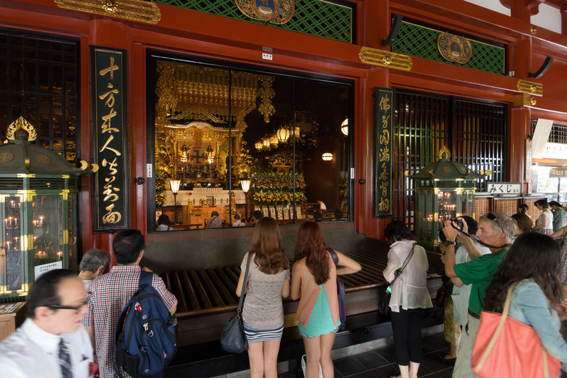Interior of the Sensoji Temple.