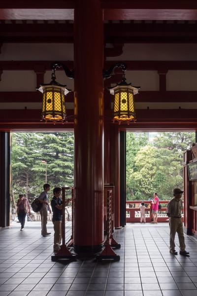 Interior of the Sensoji Temple.