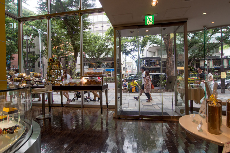Inside an upscale pastery/candy shop on the Omotesando.