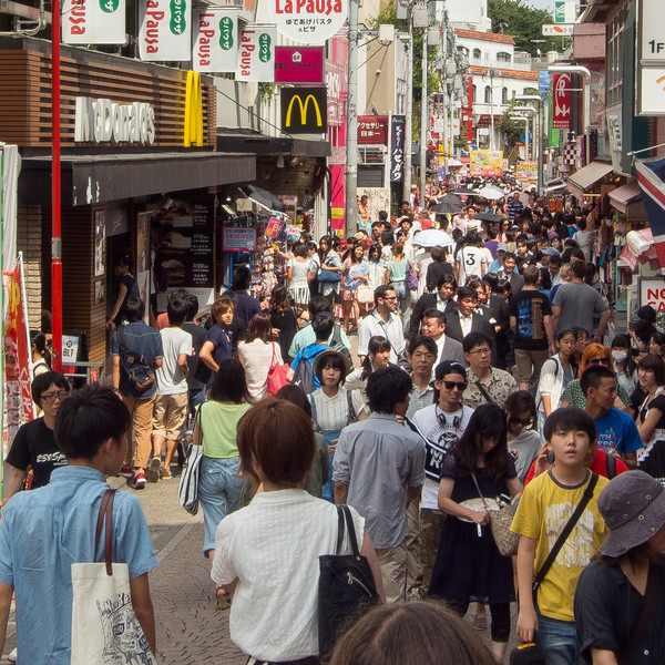 Takeshita Dori is a narrow pedestrian-only street packed with Tokyo's young fashionable people and lined with fashion boutiques and cafes.Takeshita Dori is in Harajuku....