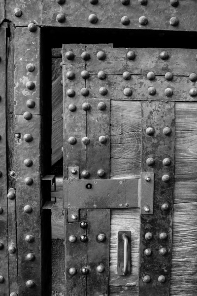 Details of a smaller door inside the front gate of the Imperial Palace in Tokyo Japan.