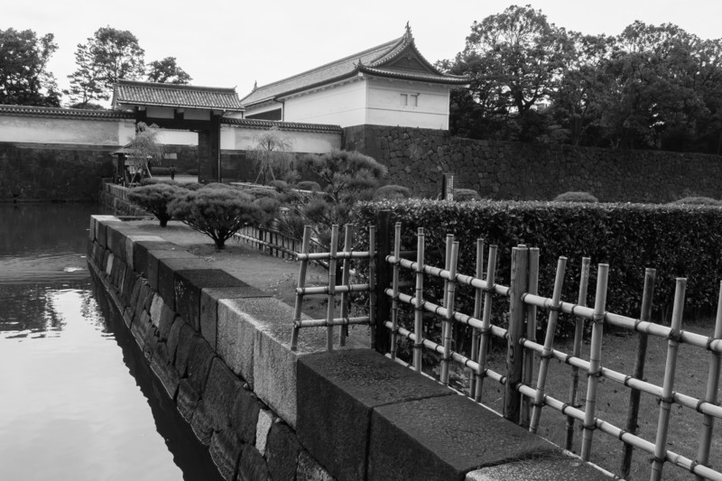 The entrance to the Imperial Palace Gardens, in Tokyo.
