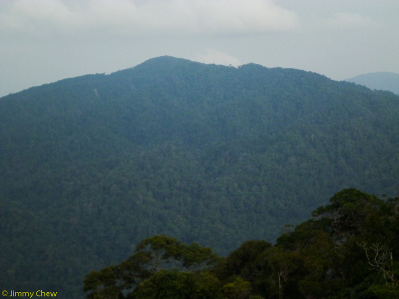 Gunung Ulu Semangkok right across.
