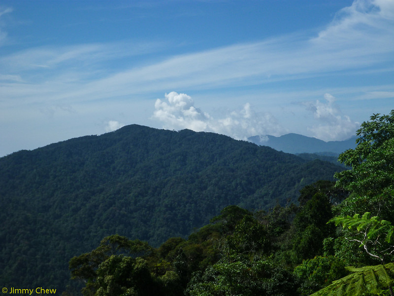 View of Gunung Ulu Semangkok.