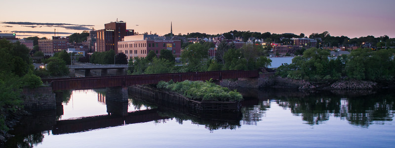 Downtown Bangor from across the Penobscot river.