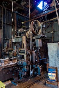 Inside the machine shop attached to the roundhouse.