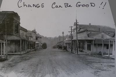 An old photo of Mariposa, Californina circa 1925.