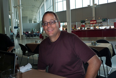 John in the Toronto airport. (before disaster struck)