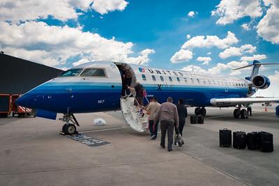 Our plane to Toronto from Washington DC.