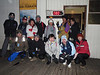A group photo before the night (or morning) climb. It's 8 degrees.