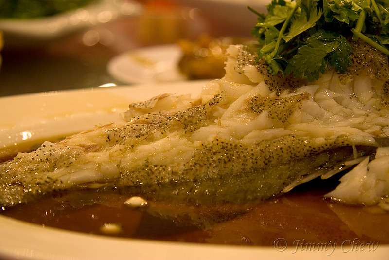 Steamed fish.