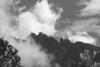 A B&W shot of the mountain.