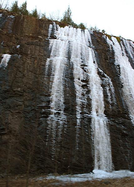 Ice on rocks around Rainbow Springs, NC