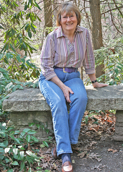 Susan along trail