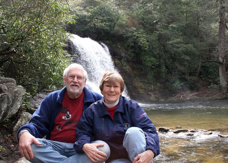 Mike and Susan at Silver Run Falls, Cashiers, NC