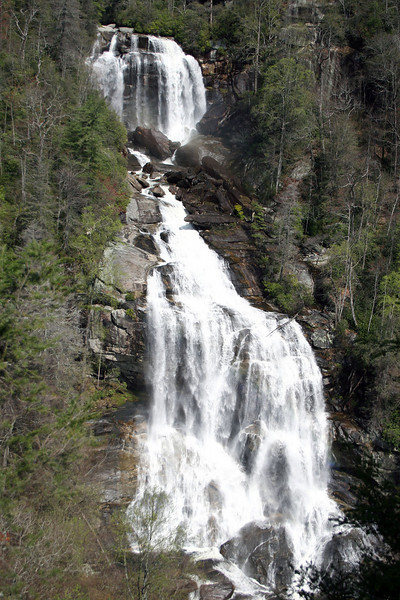 Whitewater Falls, Cashiers, NC as seen from the observation platform