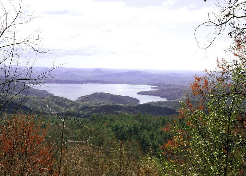 Lake Jocassee as seen along path to Whitewater Falls, Cashiers. NC